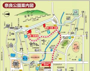 菊一文珠四郎包永 駐車場への地図