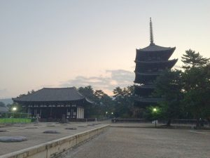 興福寺日の出前