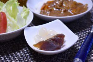 奈良漬 with カレーライス